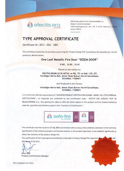 EI90-sertifika-Fırat-Çelik-Kapı