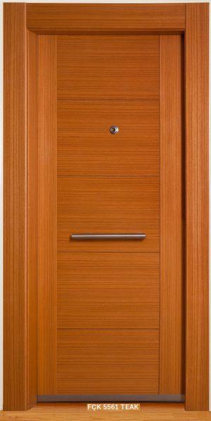 Fırat Çelik Kapı FÇK 5561 TEAK Modeli Ceres Lüx Freze