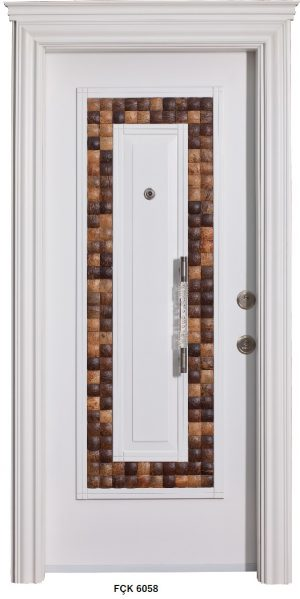 Fırat Çelik Kapı 6058 Modeli Sarin Lüx Kabartma