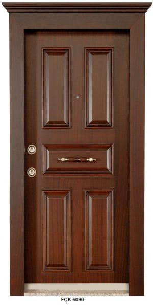 Fırat Çelik Kapı 6090 Modeli Sarin Lüx Kabartma