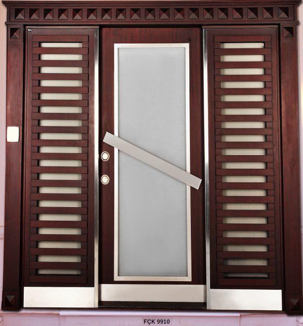 Fırat Çelik Kapı 9910 Modeli Bina Giriş Kapısı